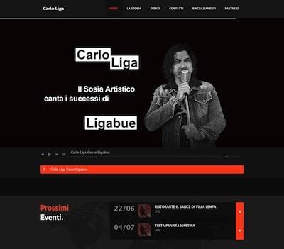 Realizzazione sito web sosia Ligabue