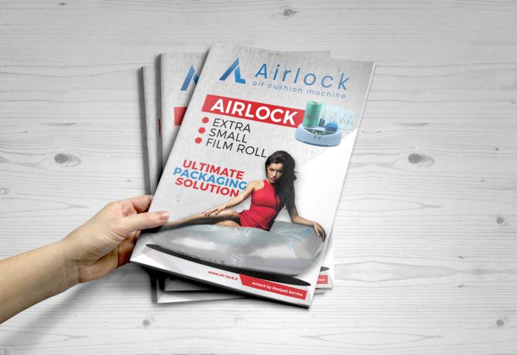 Grafica brochure A4 a 2 ante (A3 a 1 piega) Desipack