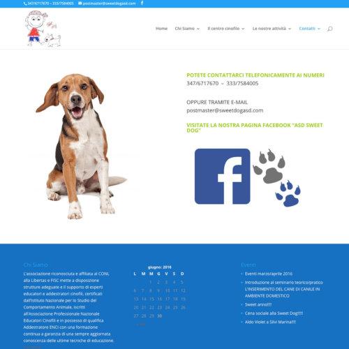 Sito web centro cinofilo di addestramento ed educazione Sweet Dog