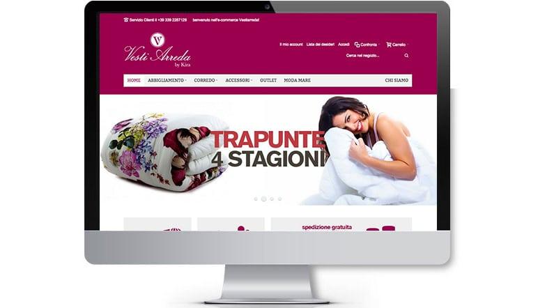 Sito web e-commerce VestiArreda.it