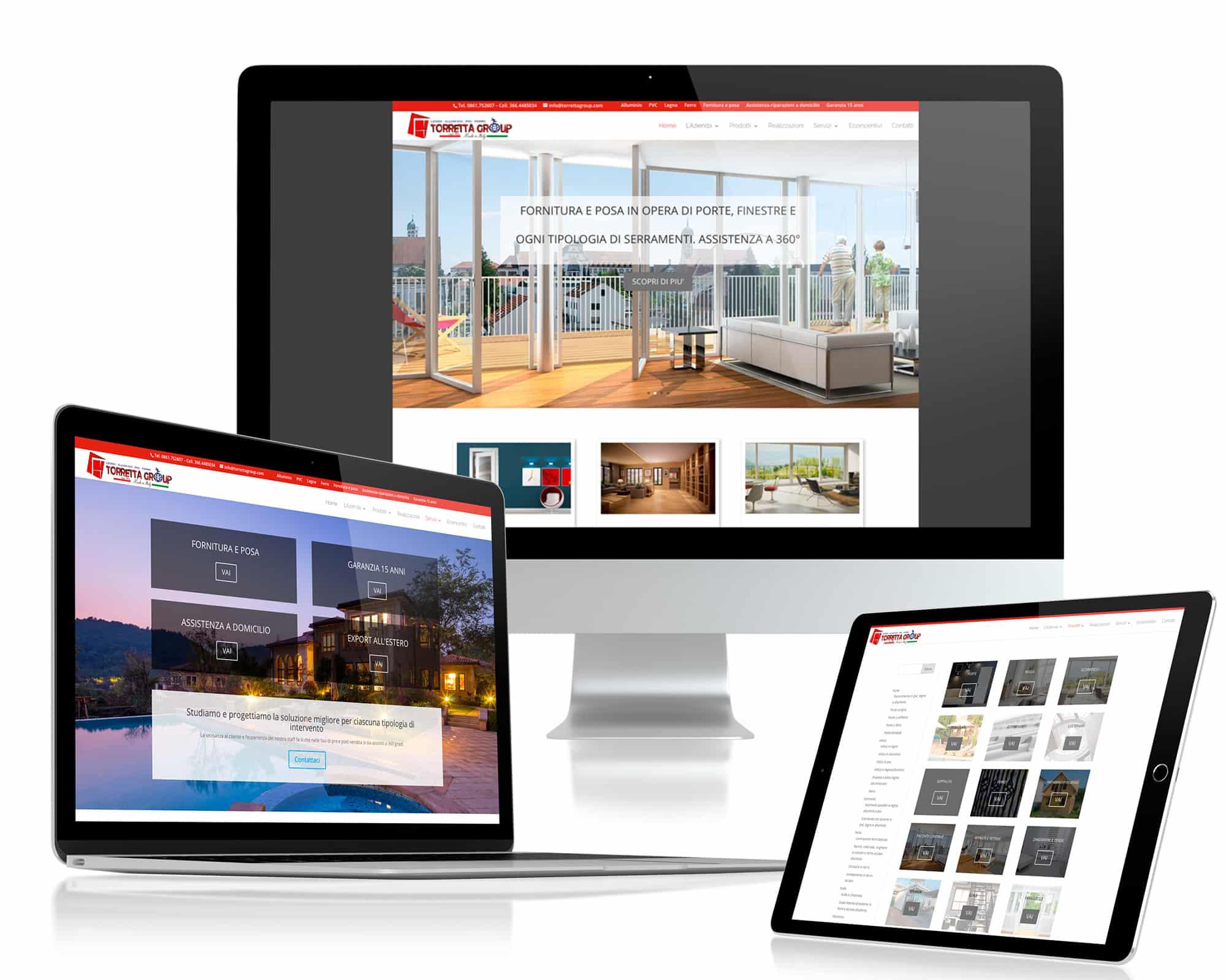 Realizzazione sito web TorrettaGroup