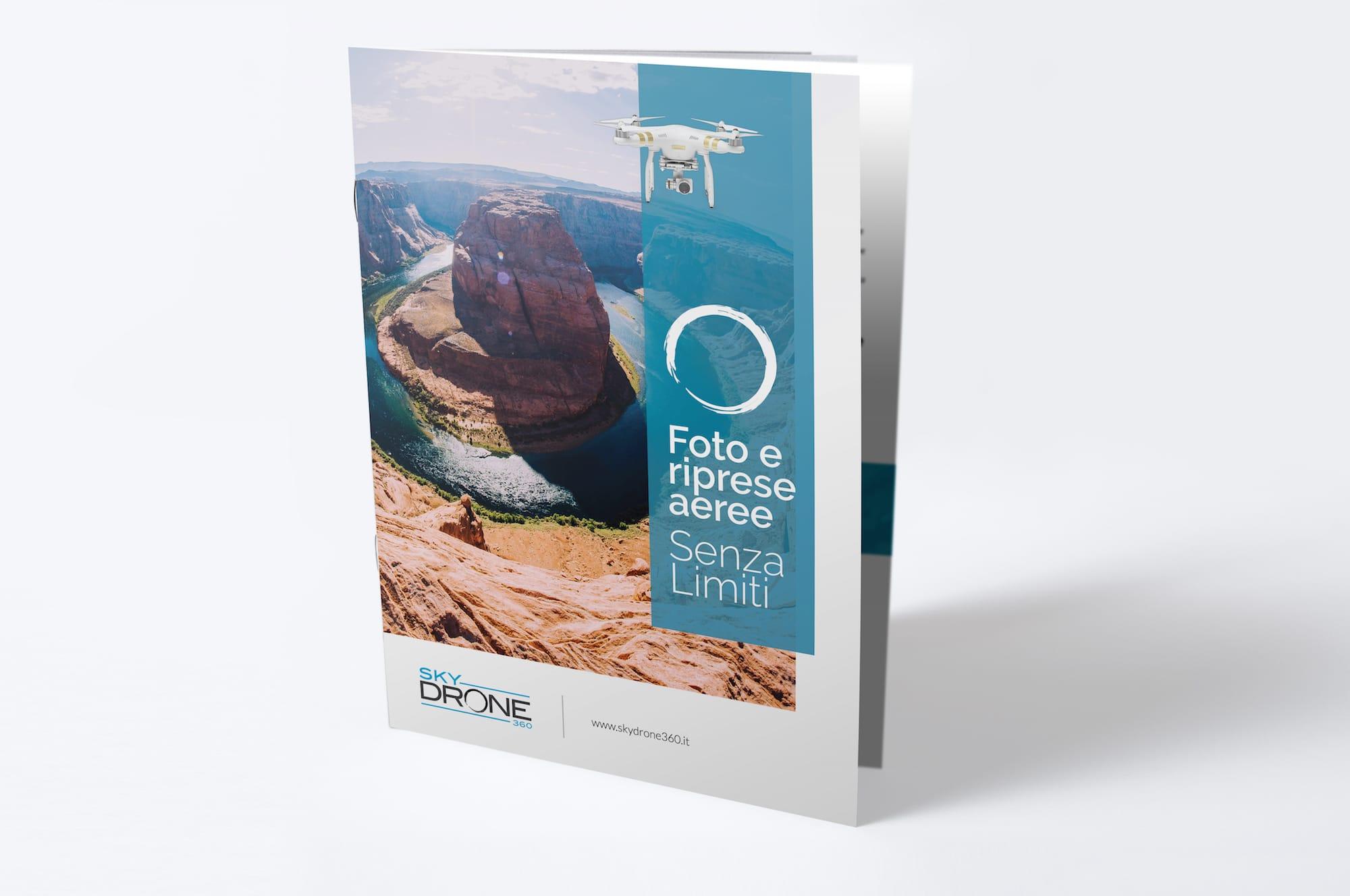 Realizzazione grafica + stampa brochure aziendale SkyDrone360