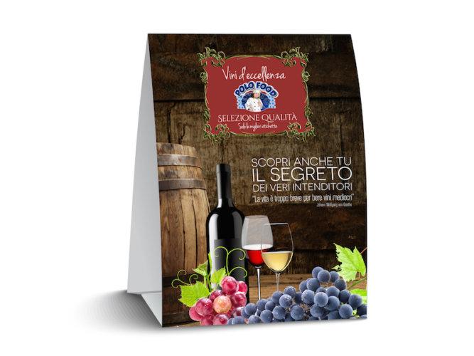 Grafica espositore per vini selezione qualità
