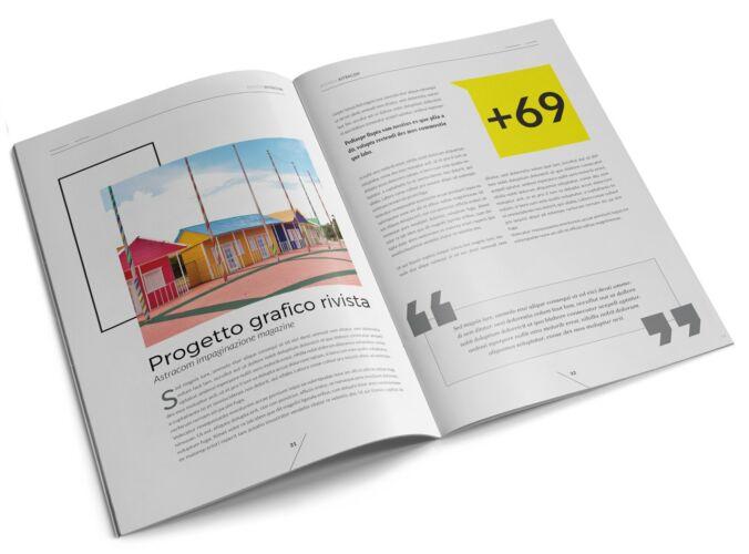 Impaginazione rivista – progetto