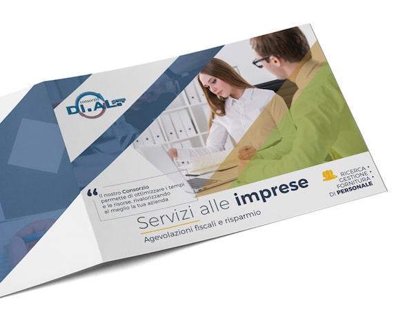 Brochure aziendale 2 ante A4 per Consorzio