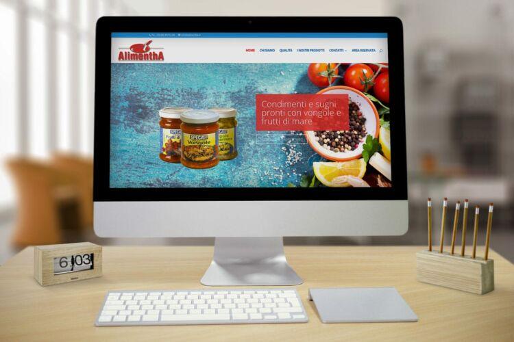 Realizzazione sito web aziendale prodotti ittici – Alimentha