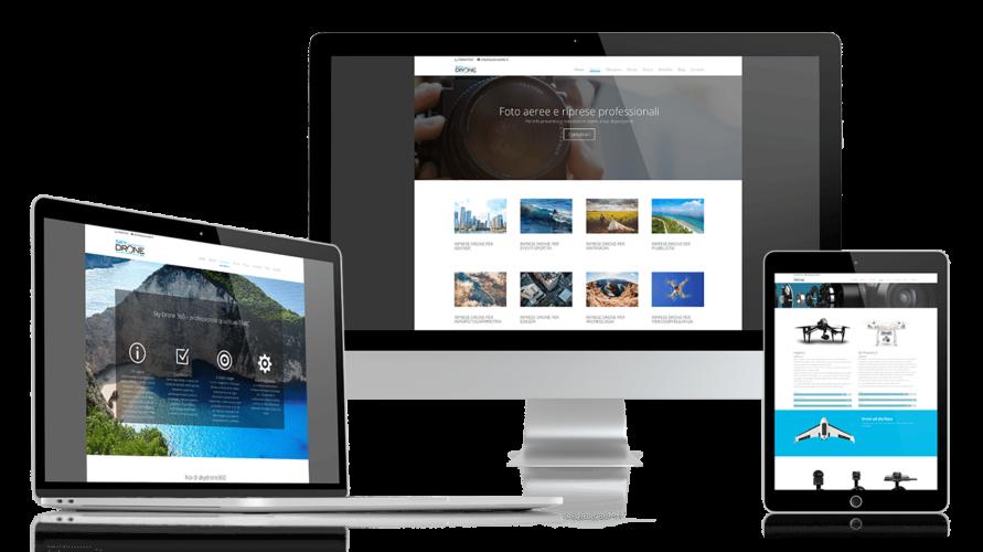 Realizzazione sito web SkyDrone360 – noleggio drone con pilota e operatore