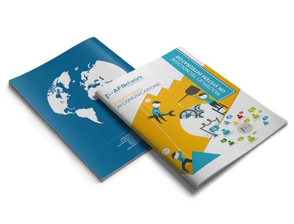 Brochure per azienda AF Network – A3 a 1 pega