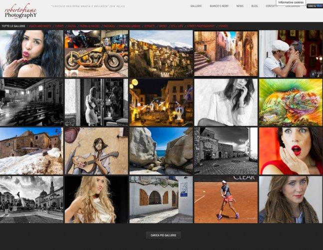 Realizzazione sito web di fotografia
