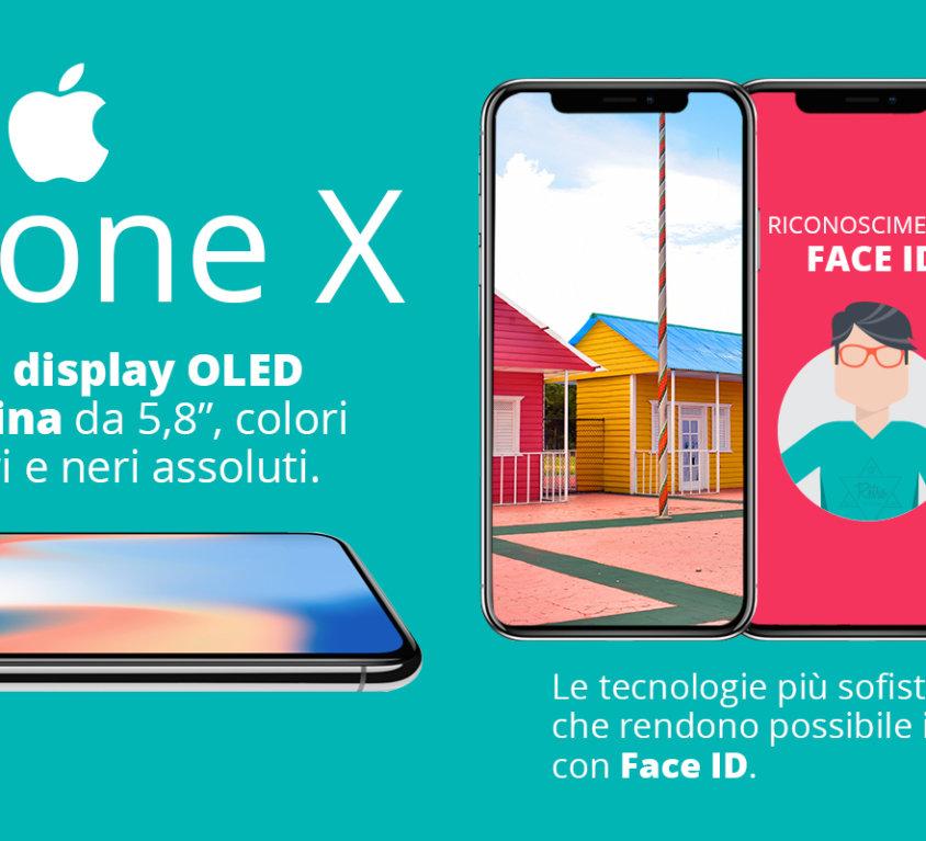 IPhone X grafica per striscione