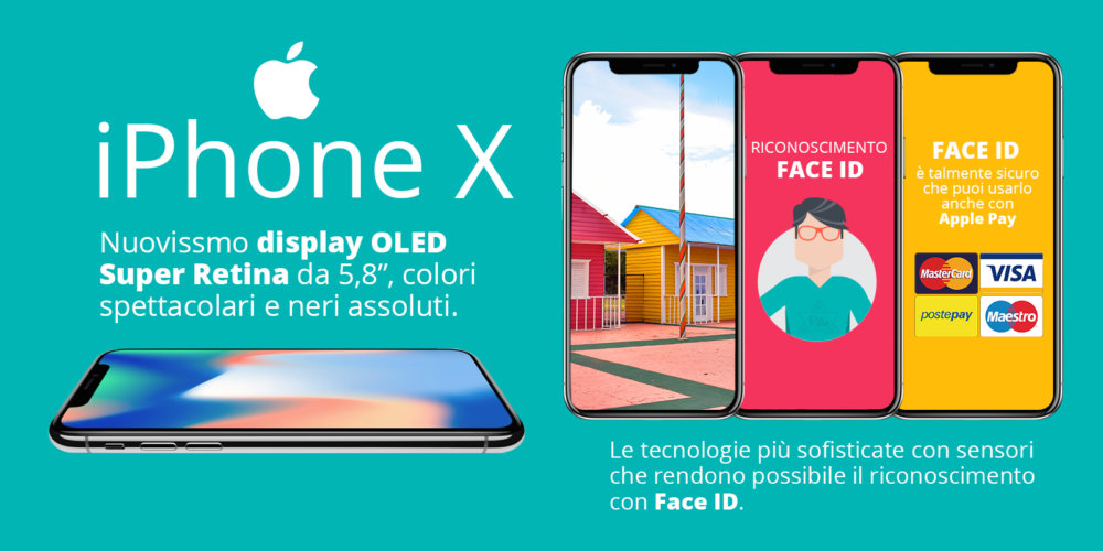 IPhone X grafica per striscione