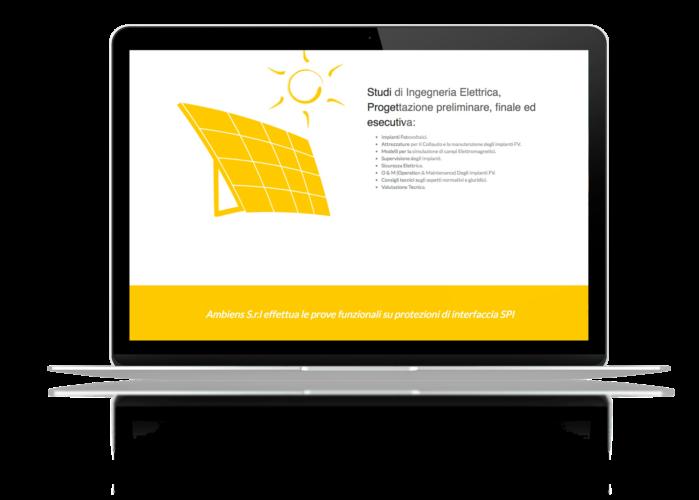 Creazione sito web ingegneria, energia e ambiente Ambiens.it