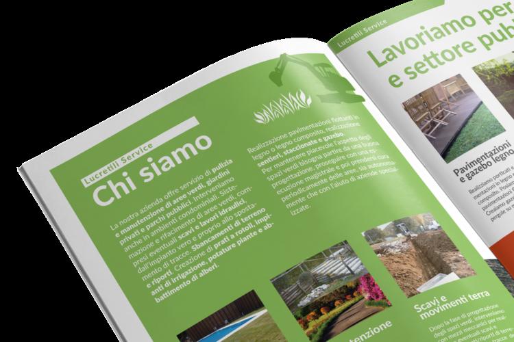 Realizzazione brochure aziendale A4 manutenzione giardini