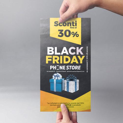 Black Friday grafica manifesto + volantino