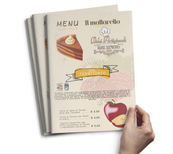 Realizzazione menù per bar – pasticceria