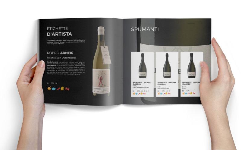 Catalogo vini – realizzazione catalogo quadrato 96 pagine