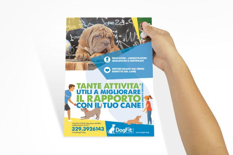 Grafica volantino Centro Sportivo Cinofilo Dog Fit ASD