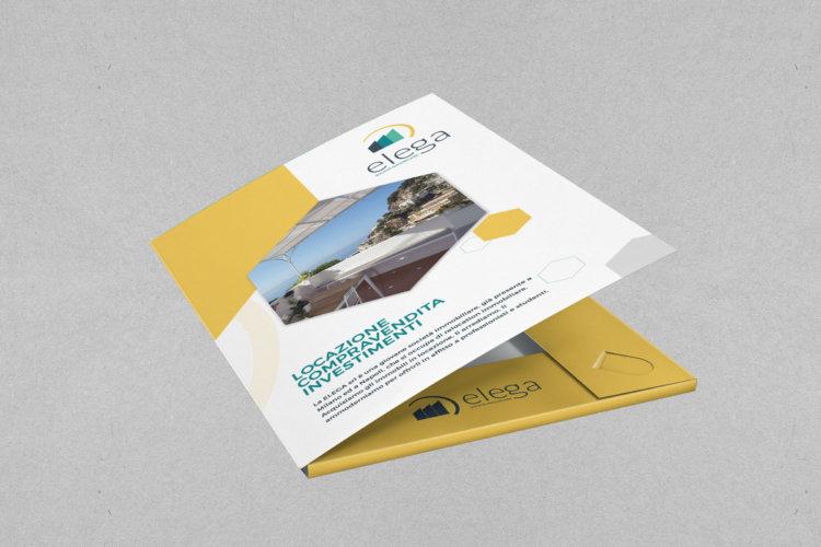 Cartellina di presentazione portadocumenti Agenzia Immobiliare