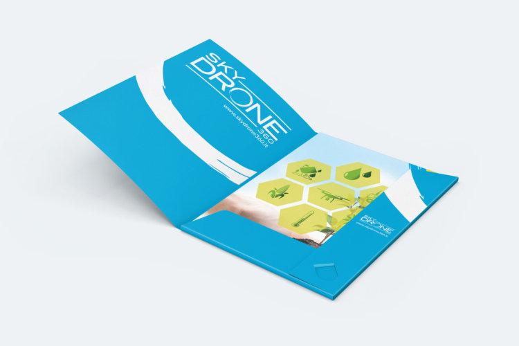 Grafica cartellina di presentazione aziendale