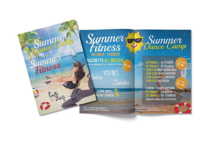 Grafica brochure fitness e danza