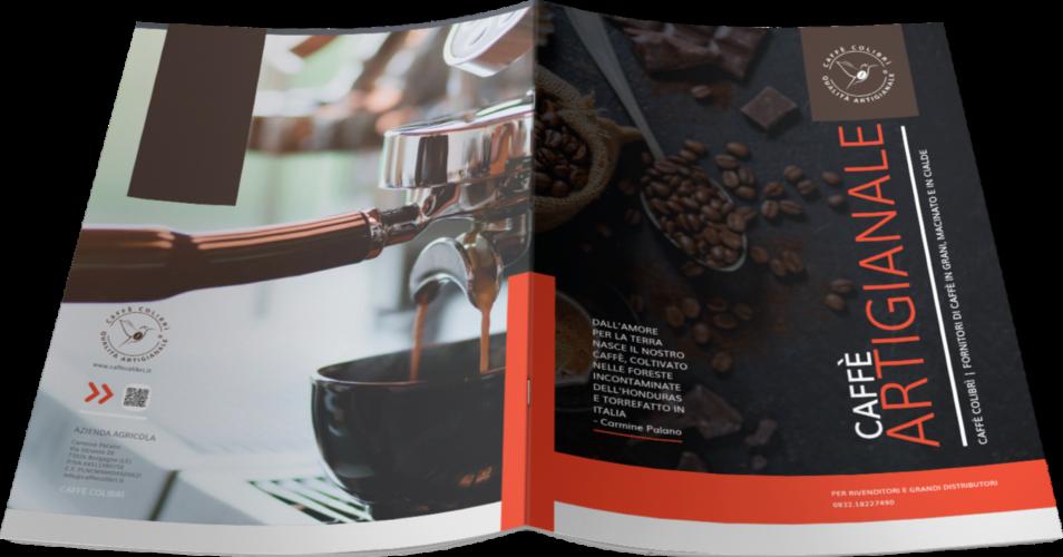 Grafica brochure produttore caffè Caffè Colibrì