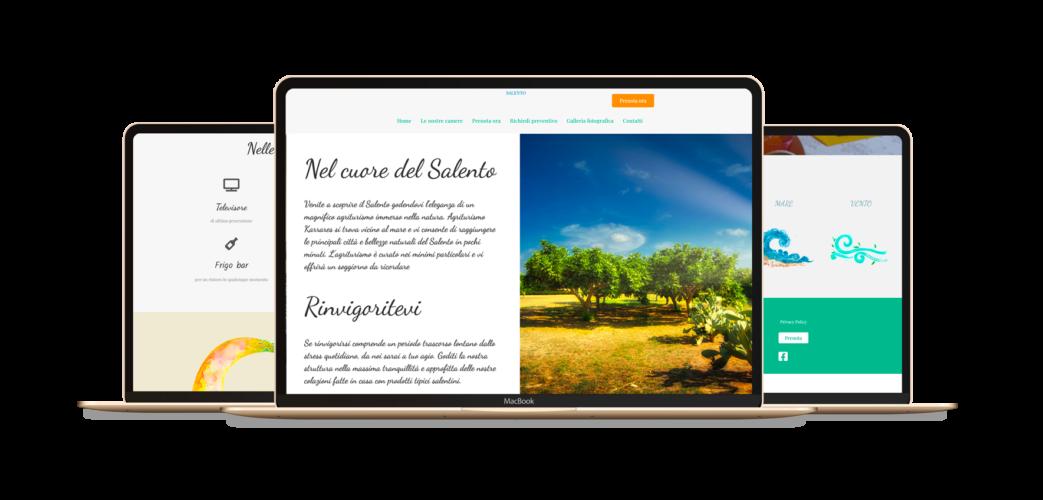 Sito web agriturismo nel Salento – Karrares