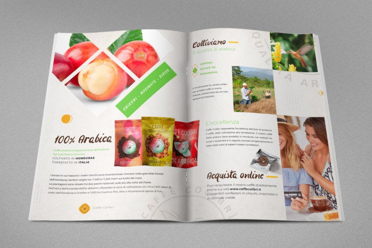 Grafica brochure Caffè Colibrì B2C