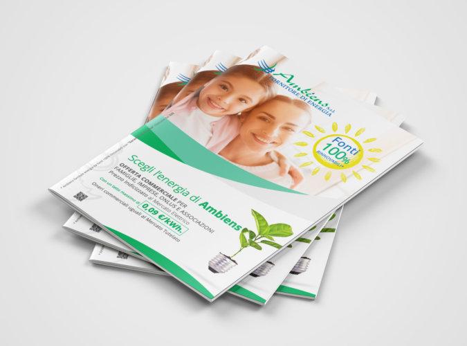 Grafica brochure fornitore di energia