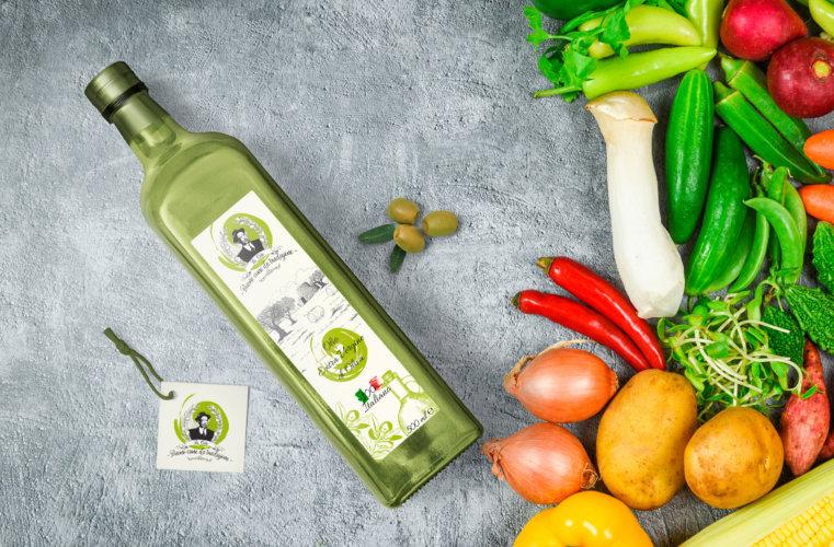 Realizzazione etichetta olio extravergine di oliva