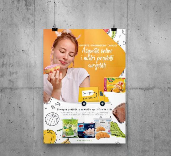 Manifesto locandina 70×100 prodotti surgelati